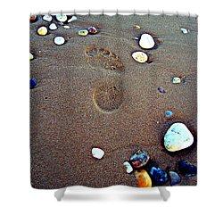 Shower Curtain featuring the photograph Footprint by Nina Ficur Feenan