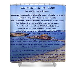 Footprints In The Sand 2 Shower Curtain