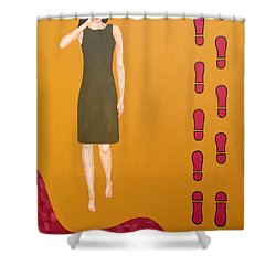 Footsteps In The Sand Shower Curtain by Patrick J Murphy
