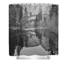 Footsteps Of Ansel Adams Shower Curtain by Debby Pueschel