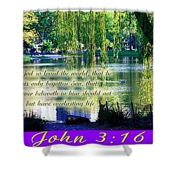 For God So Loved- Shower Curtain