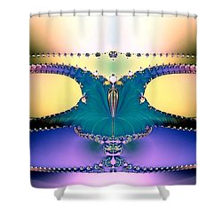 For Her Majesty Shower Curtain by Renee Trenholm
