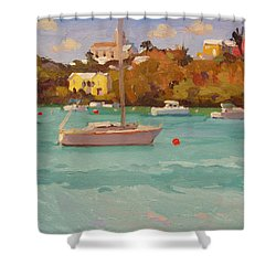 For Sail Shower Curtain by Dianne Panarelli Miller