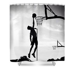 For The Love Of Basketball  Shower Curtain