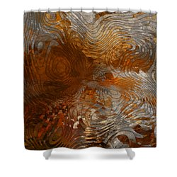 For The Love Of Rust Shower Curtain by Jack Zulli