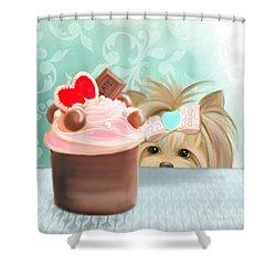 Forbidden Cupcake Shower Curtain