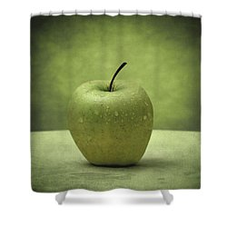 Forbidden Fruit Shower Curtain by Taylan Apukovska