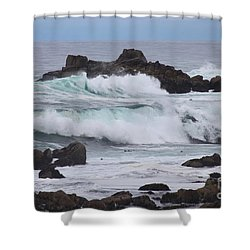 Force Of Nature Shower Curtain by Bev Conover