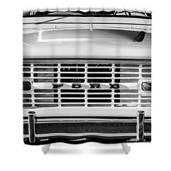 Ford Bronco Grille Emblem -0014bw Shower Curtain