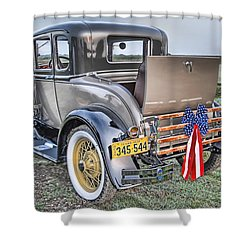 Shower Curtain featuring the photograph Ford Classic by Dyle   Warren