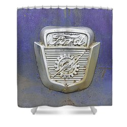 Ford Emblem Shower Curtain by Laurie Perry