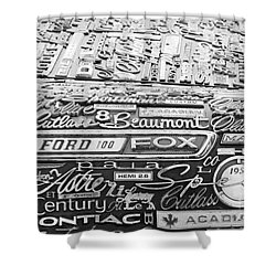 Ford Fox Shower Curtain
