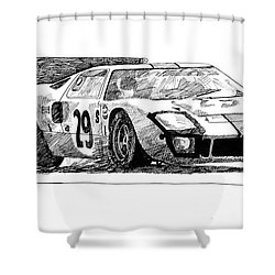Ford Gt - 40 Shower Curtain
