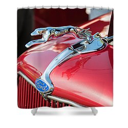 Ford Hood Shower Curtain by Guy Whiteley