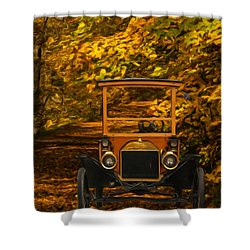 Ford Shower Curtain by Jack Zulli