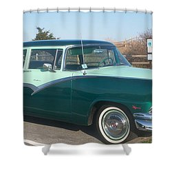 Ford Mercury Shower Curtain by Eric  Schiabor