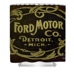 Ford Motor Company Shower Curtain by David Millenheft