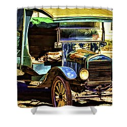 Shower Curtain featuring the painting Ford by Muhie Kanawati