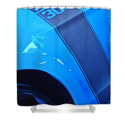 Ford Mustang Boss 302 Emblem Shower Curtain by Jill Reger