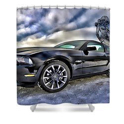 Ford Mustang - Featured In Vehicle Eenthusiast Group Shower Curtain by EricaMaxine  Price