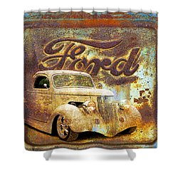 Ford Coupe Rust Shower Curtain