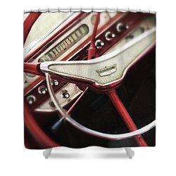 Ford Sunliner Shower Curtain by Bradley R Youngberg