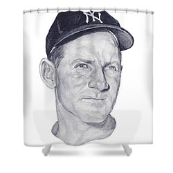 Shower Curtain featuring the painting Ford by Tamir Barkan