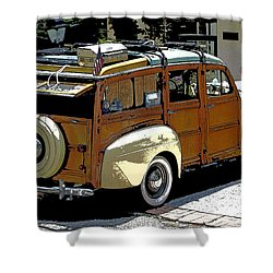 Ford Woodie Shower Curtain