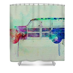 Ford Woody Shower Curtain by Naxart Studio