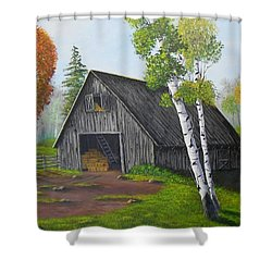 Forest Barn Shower Curtain by Sheri Keith