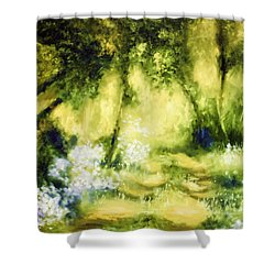 Forest Bluebells Shower Curtain