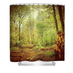 Forest Shower Curtain by Daniel Precht