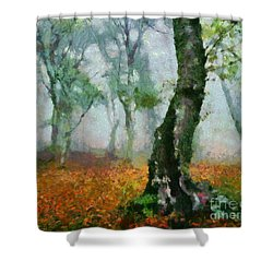 Forest Edge Shower Curtain by Elizabeth Coats