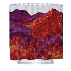 Shower Curtain featuring the painting Forest Fantasy By Jrr by First Star Art