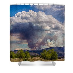 Forest Fire South Of Twisp Shower Curtain by Omaste Witkowski
