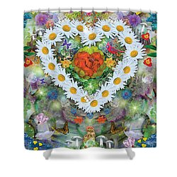 Forest Heart Shower Curtain by Alixandra Mullins