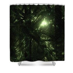 Shower Curtain featuring the digital art Forest Light by GJ Blackman