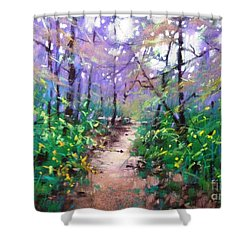 Forest Of Summer Shower Curtain