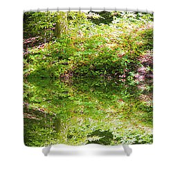 Shower Curtain featuring the photograph Forest Reflections by John Stuart Webbstock