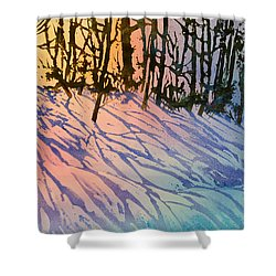 Forest Silhouettes Shower Curtain