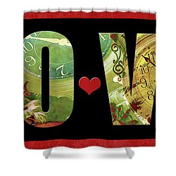 Forever Love Shower Curtain by Claudia Ellis