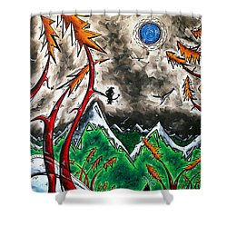 Forever Wild Original Madart Painting Shower Curtain by Megan Duncanson