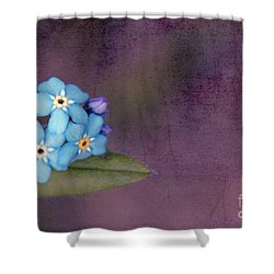 Forget Me Not 02 - S0304bt02b Shower Curtain by Variance Collections