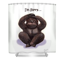 Forgive Me Shower Curtain by Jerry Ruffin