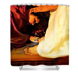 Forgiven Shower Curtain by Jennifer Page