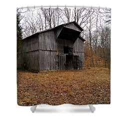 Shower Curtain featuring the photograph Forgotten Barn by Nick Kirby