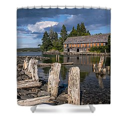 Forgotten Downeast Smokehouse Shower Curtain by Marty Saccone
