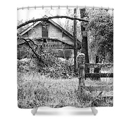 Forgotten Dreams - Bw Shower Curtain by Rory Sagner