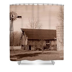 Forgotten Farm Shower Curtain by Judy Whitton