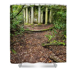 Forgotten Folly Shower Curtain by Adrian Evans